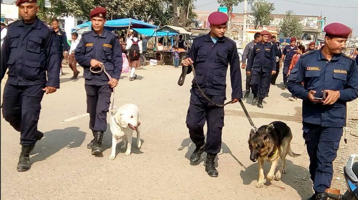 Nepal Police Patrolling
