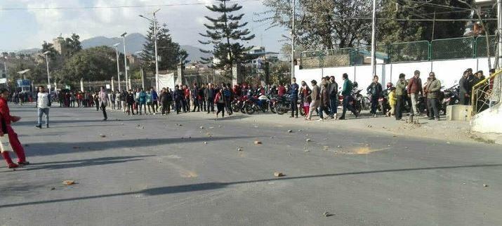 Baam Gathabandhan Student Unions on Striket