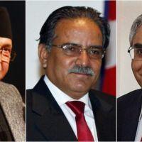 K.P.Oli,Pushpa Kamal Dahal,and Sher Brd Deuba